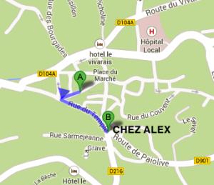 Chez Alex localisation